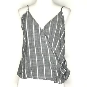 Ten Sixty Sherman Gray Striped Cami Tank A170616
